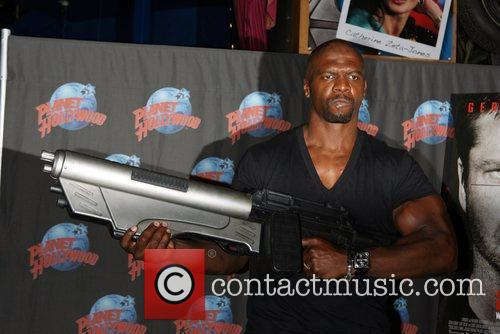 Terry Crews promotes his new role in Lionsgate...
