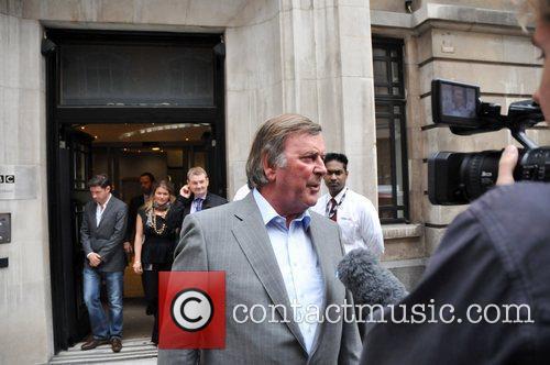 Sir Terry Wogan Leaving The Bbc Radio Studios. 5