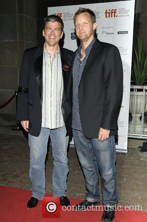 Producer Eric Gruendemann (L) and director Rick Jacobseon...