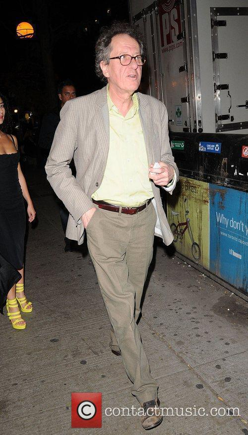 Geoffrey Rush leaving a party - The Toronto...