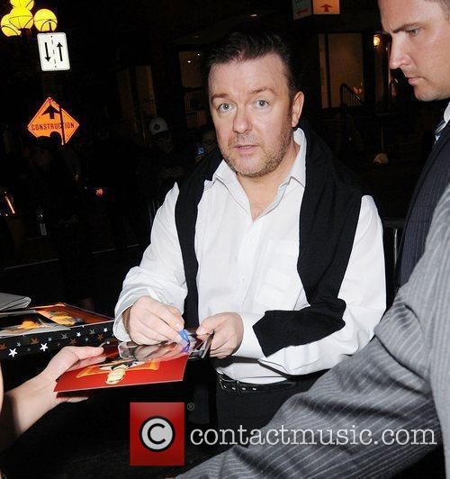 Ricky Gervais leaving a party - The Toronto...