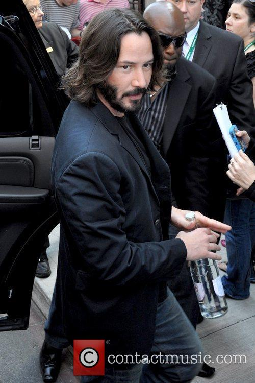 Keanu Reeves meeting with fans at The Toronto...