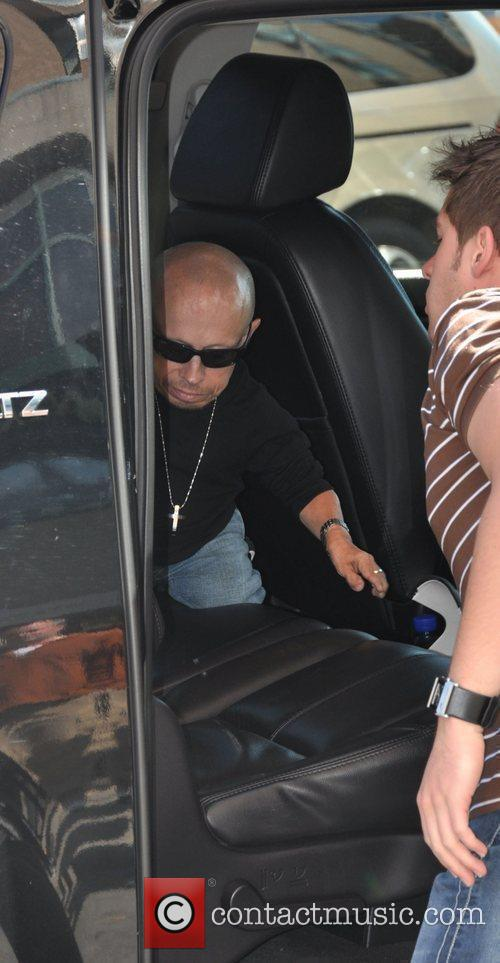 Verne Troyer arrives at his hotel during the...