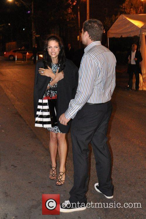 Julia Voth and Josh Emerson depart the InStyle...