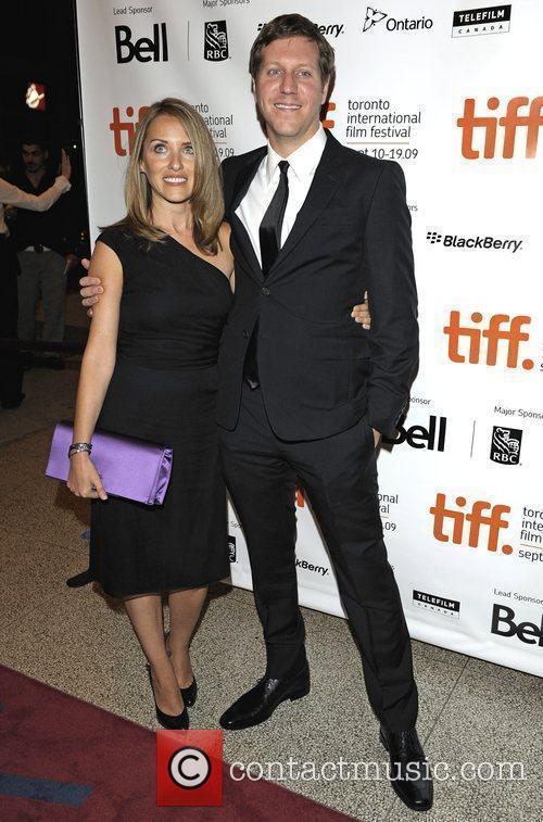 Director Matthew Robinson and his wife Lisa...