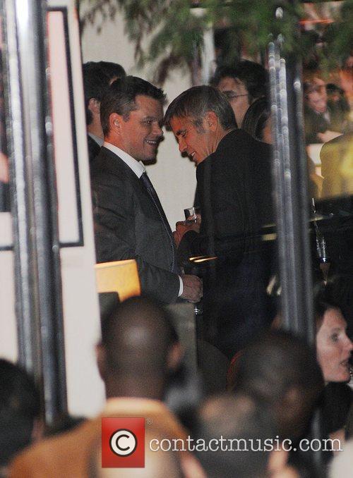 George Clooney and Matt Damon 1