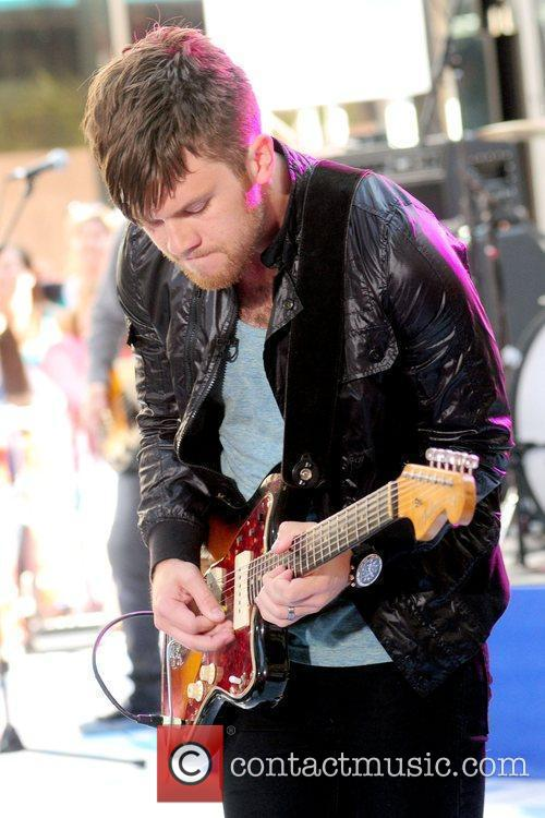 Dave Welsh of The Fray performing live on...