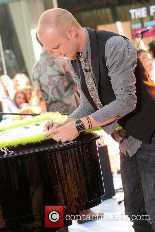 Isaac Slade of The Fray performing live on...