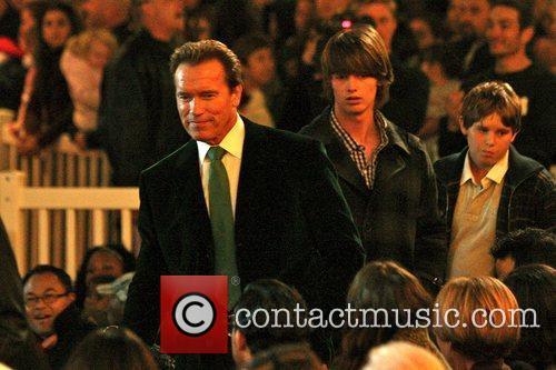 Arnold Schwarzenegger and his son Patrick The Grove's...