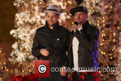 Joel and Benji Madden The Grove's annual tree...