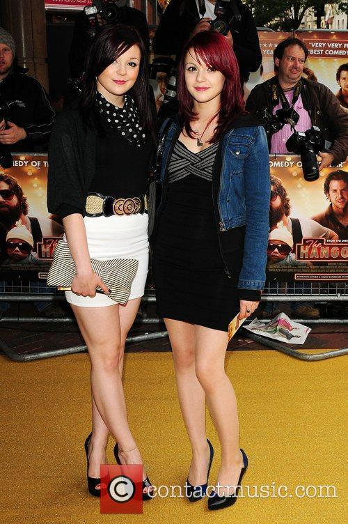 Kathryn Prescott and Megan Prescott  UK Premiere...