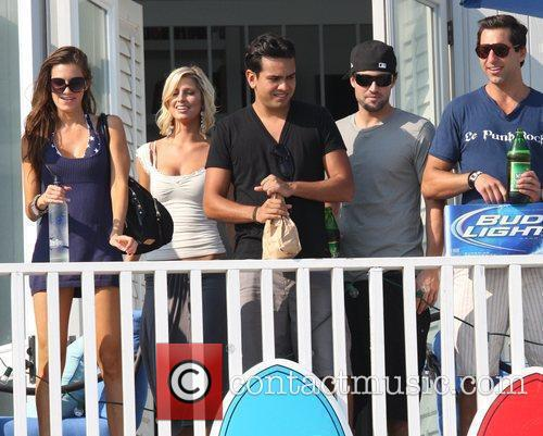 Brody Jenner filming The Hills on Malibu beach