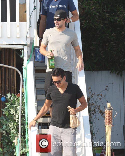 Brody Jenner filming The Hills on Malibu beach...