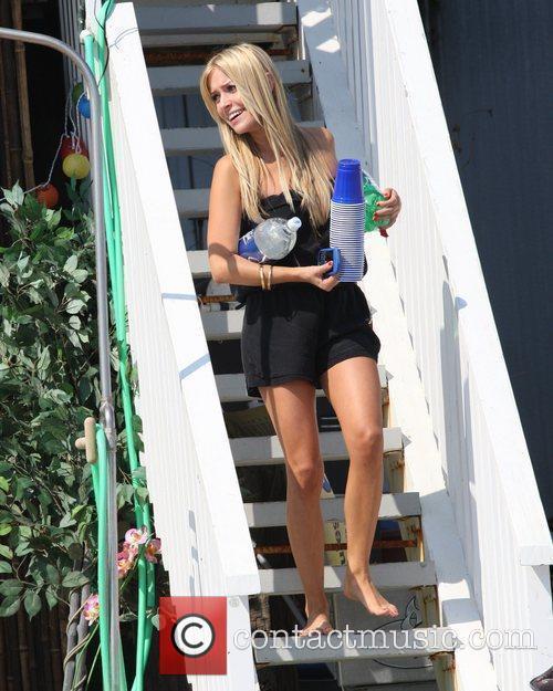 Kristin Cavallari filming The Hills on Malibu beach...