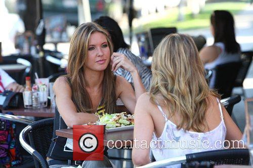 Audrina Patridge and Lo Bosworth Film Scenes For The New Season Of 'the Hills' Outside Fratelli's Restaurant On Melrose Avenue 3