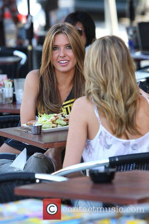 Audrina Patridge and Lo Bosworth Film Scenes For The New Season Of 'the Hills' Outside Fratelli's Restaurant On Melrose Avenue 11