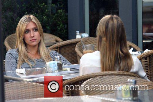 Kristin Cavalarri filming scenes for 'The Hills' at...