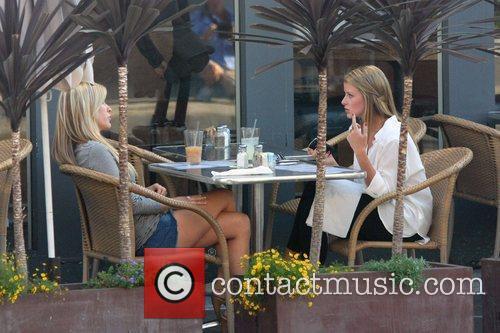Kristin Cavalarri and Lo Bosworth filming scenes for...