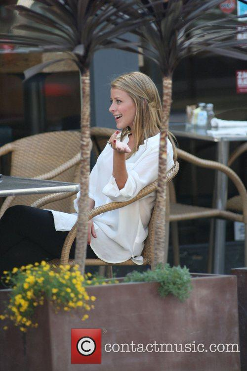 Lo Bosworth filming on the set of 'The...