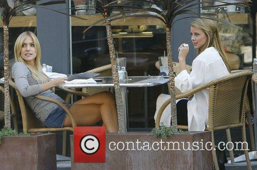 Kristin Cavallari and Lo Bosworth filming on the...