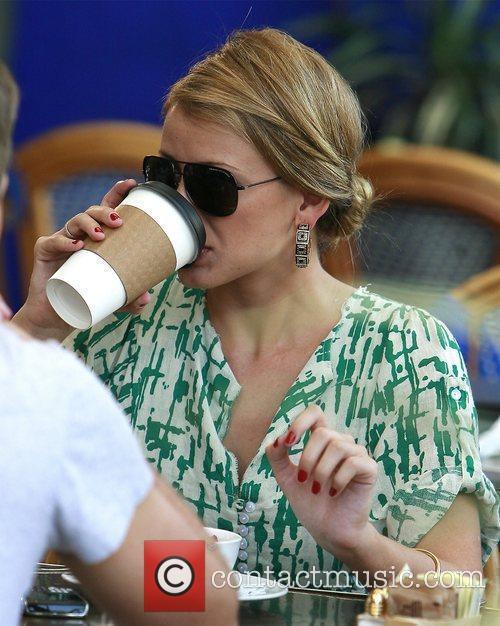 Lo Bosworth filming scenes for the new season...