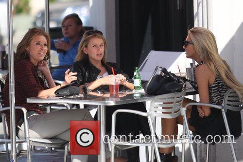 Cast members from 'The Hills' having lunch at...