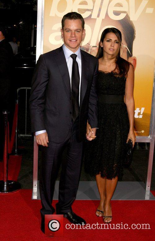 Matt Damon and wife Lucy Damon New York...