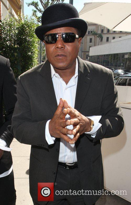 Tito Jackson arriving at Mr.Chows in Beverly Hills....
