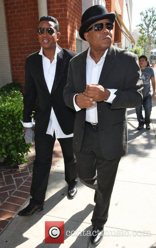 Jermaine and Tito Jackson arrive at Mr. Chow...