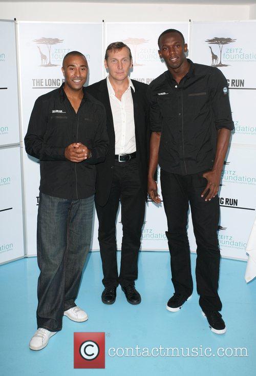 Usain Bolt, Colin Jackson with founder Joaquin Zietz...