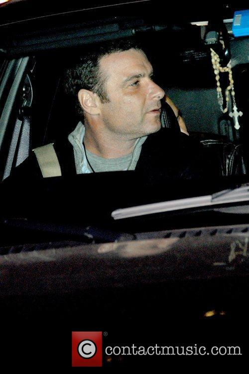 Liev Schreiber outside American Airlines Theatre for the...