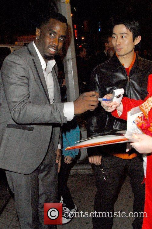 Sean 'Diddy' Combs outside American Airlines Theatre for...