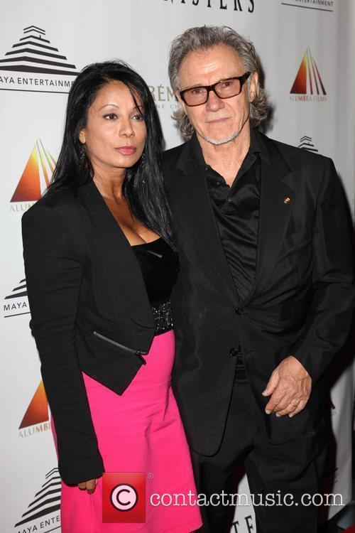 Wanda De Jesus and Harvey Keitel