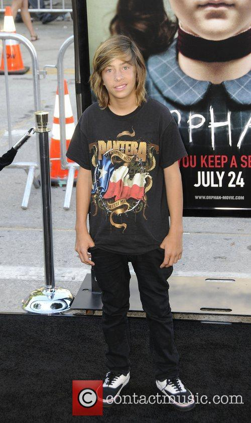 Jimmy Bennett arrives at the Los Angeles premiere...