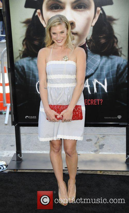 Katee Sackhoff arrives at the Los Angeles premiere...