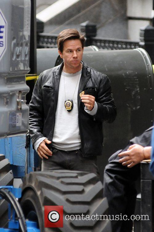 Mark Wahlberg on the set of 'Other Guys'...
