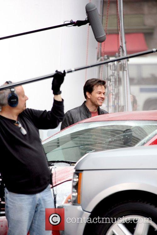 Mark Wahlberg on the set of his new...
