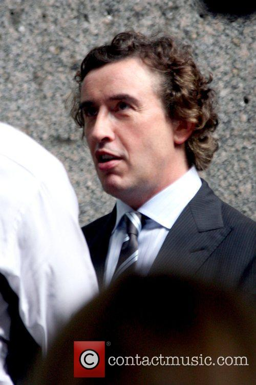 Steve Coogan on the set of his new...