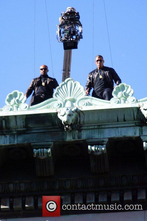 Stuntmen Suspended On Wires 2