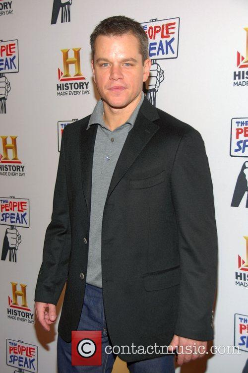 Matt Damon, People Speak Event
