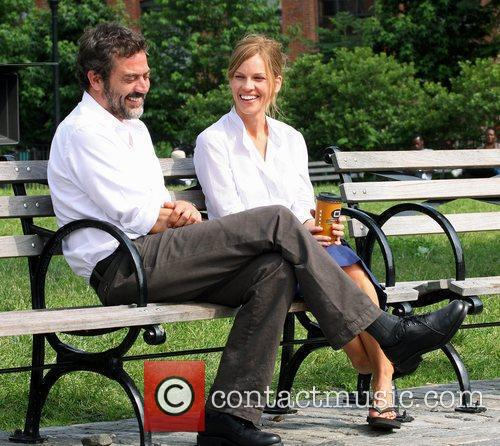 Jeffrey Dean Morgan and Hilary Swank on the...