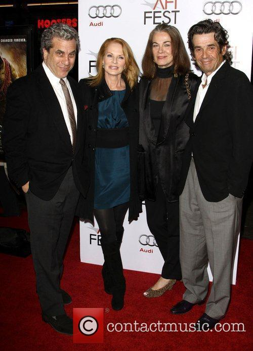 Marg Helgenberger with husband Alan Rosenberg and guests...