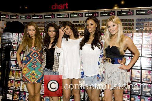 British pop girl group appear at HMV in...