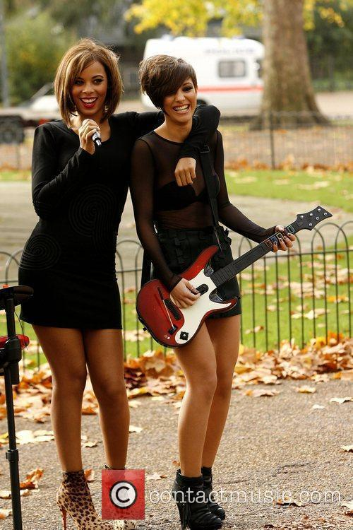The Saturdays launch Band hero at Hyde Park...