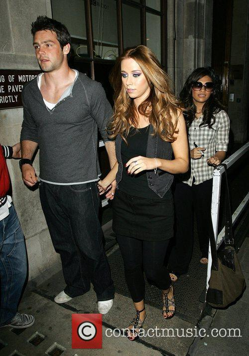Una Healy and boyfriend Ben Foden arrive at...
