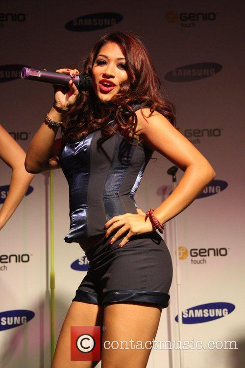 The Saturdays celebrate the launch of the Samsung...