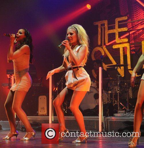 Rochelle Wiseman and Mollie King The Saturdays performing...