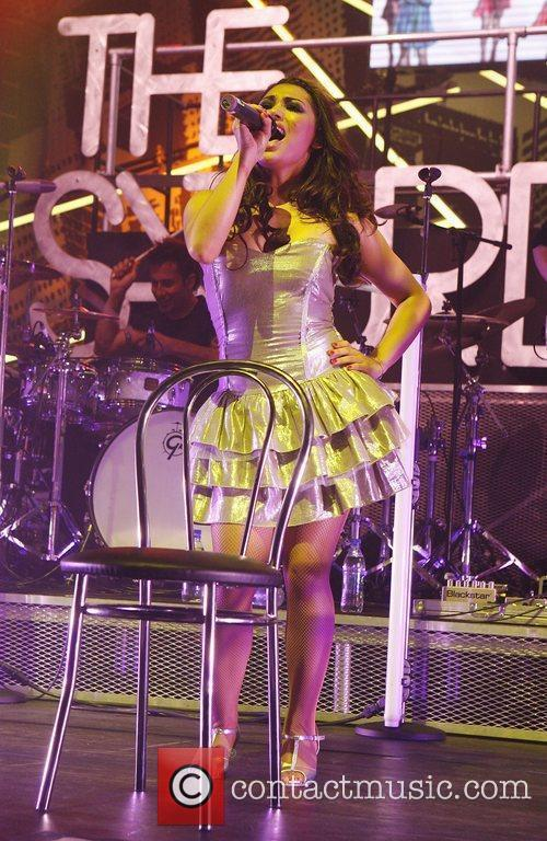Vanessa White of The Saturdays performing live in...