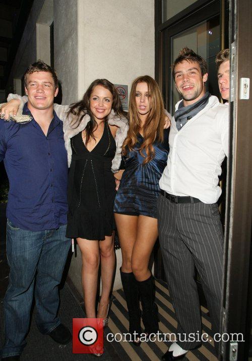 Una Healy with friends and boyfriend Ben Foden...