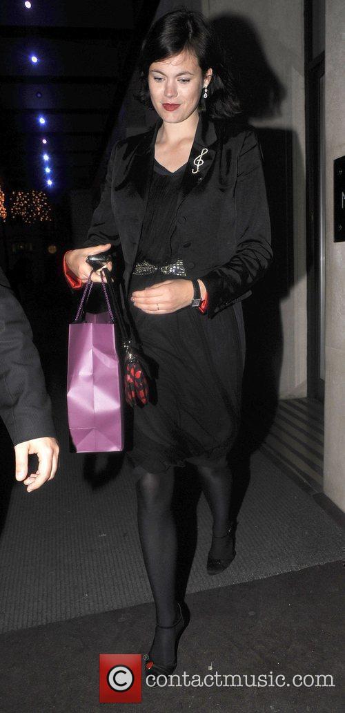 Jasmine Guinness outside a London hotel London, England